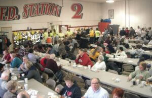 Community breakfast at the fire department